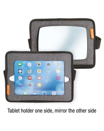 Car Back Seat Tablet Holder & Mirror