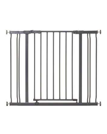 Ava Pressure Mounted Security Gate w/ Extensions, Charcoal
