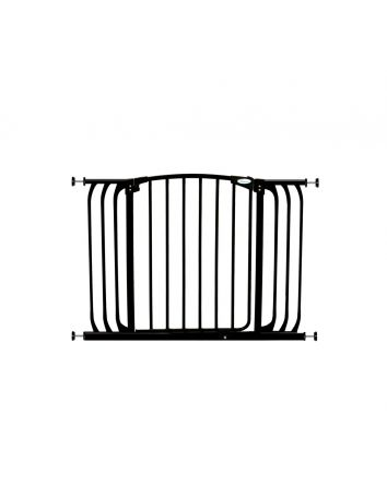 Chelsea Extra Wide 38-42.5in Auto Close Metal Baby Gate - Black