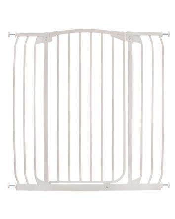 Chelsea Extra Tall and Wide 38-42.5in Auto Close Metal Baby Gate - White