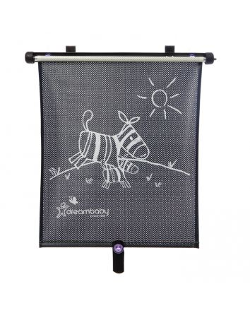 ADJUSTABLE ZEBRA CAR WINDOW SHADE ROLL-UP