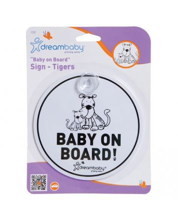 TIGER BABY ON BOARD SIGN