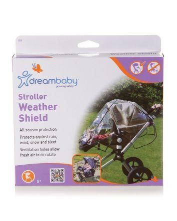 Strollerbuddy®  Stroller Weather Shield - Black Piping