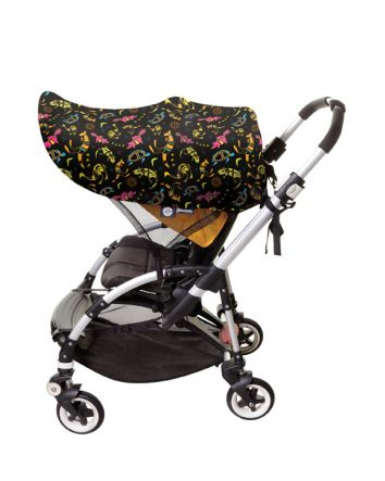 Large Strollerbuddy® Stroller Extenda-Shade® - Animal Pattern