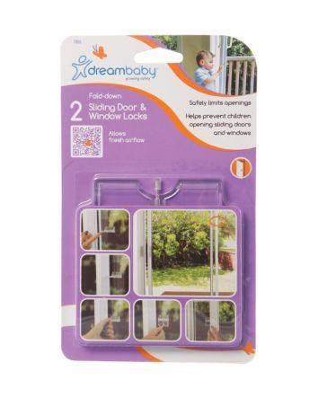 Breezz-Latch® Fold-Down Sliding Door & Window Locks