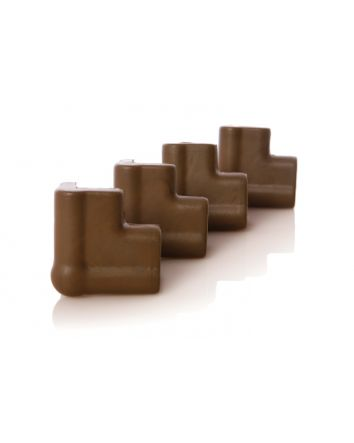 Foam Corner Cushions - 4 Pack, Brown