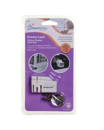 Breezz-Lock® Sliding Window Restrictor - White
