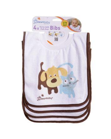 Pullover Bibs - 4 Pack Cute Pets