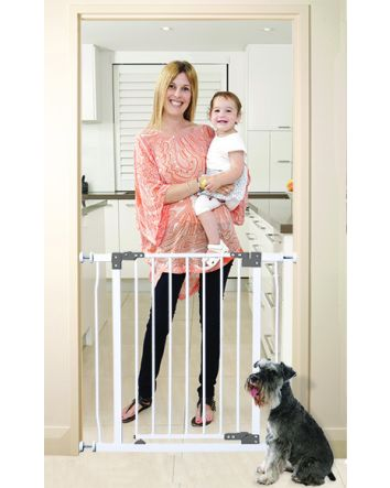 Liberty 29.5-33in Auto Close Metal Baby Safety Gate - White