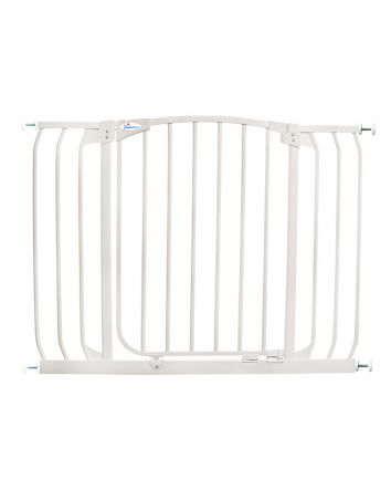 Chelsea Extra Wide 38-42.5in Auto Close Metal Baby Gate - White