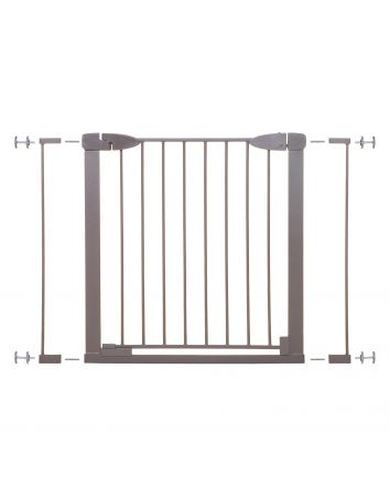 Boston 29.5-38in Auto Close Metal Baby Gate w/ EZY-Check Indicator - Taupe