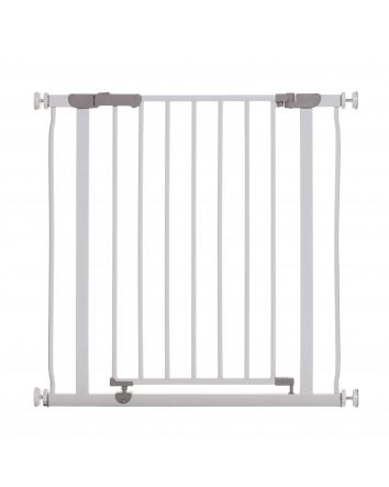 Ava Pressure Mounted Security Gate w/ Extensions, White