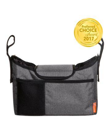 Strollerbuddy®  On-The-Go Bag - Grey Denim