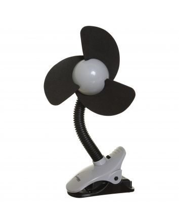 EZY-Fit Clip-On Fan, Black with Grey