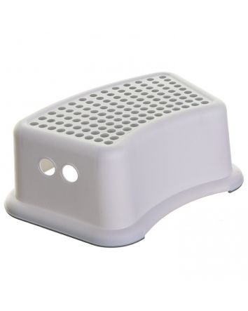 Step Stool - Grey Dots