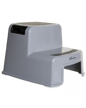 2-UP STEP STOOL BLACK GREY