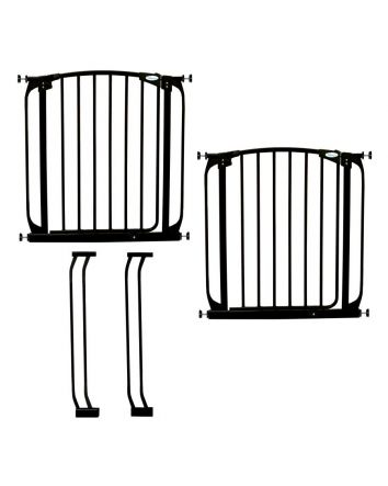 Chelsea Auto Close Metal Baby Gate Value Pack - Black
