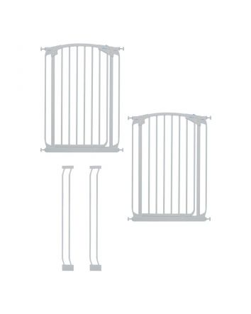 Chelsea Extra Tall Auto Close Metal Baby Gate Value Pack - White