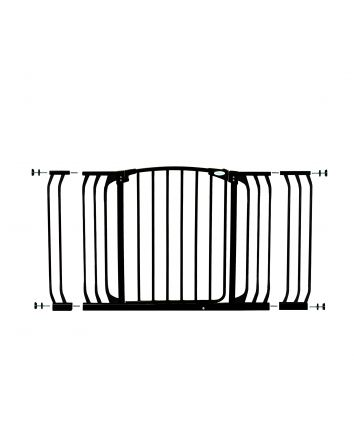 Chelsea Extra Wide 38-53in Auto Close Metal Baby Gate - Black