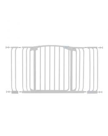 Chelsea Extra Tall and Wide 38-53in Auto Close Metal Baby Gate - White