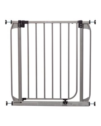 Dawson Auto Close Security Gate with Smart Stay-Open Feature - Silver color