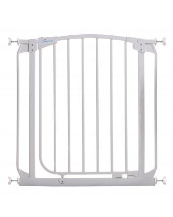Chelsea 28-32in Auto Close Metal Baby Gate - White