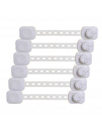 Twist 'N Lock Multi-Purpose Latch, 6 pack, White