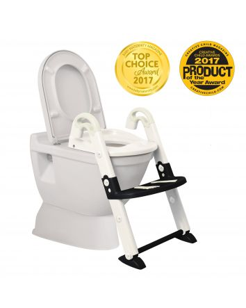 3-In-1 Toilet Trainer (Glow in the Dark) White / Black