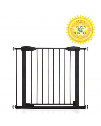 Boston 29.5-38in Auto Close Metal Baby Gate w/ EZY-Check® Indicator - Black