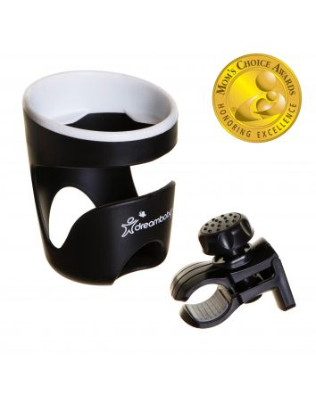Strollerbuddy® Drink Holder - Black / White trim