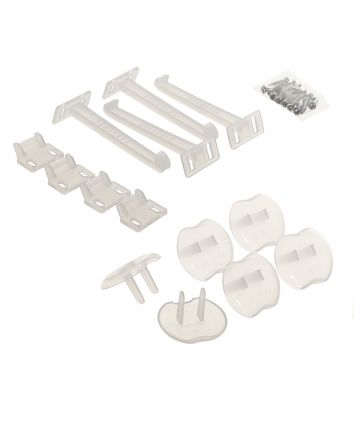 Safety Catches and Outlet Plug - 10 Piece Clear