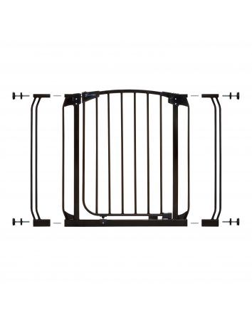 Chelsea 28-39in Auto Close Metal Baby Gate - Black
