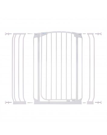 Chelsea Extra Tall 28-42.5in Auto Close Metal Baby Gate - White