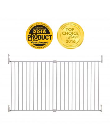 Broadway Xtra-Wide Gro-Gate® - White
