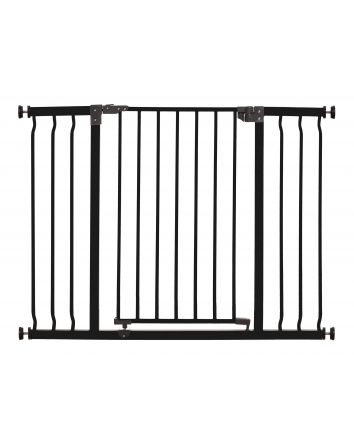 Liberty Extra Wide 39-42.5in Auto Close Metal Baby Safety Gate - Black