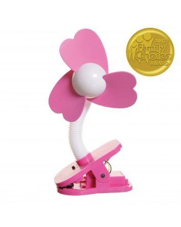 Clip-on Fan - White/Pink